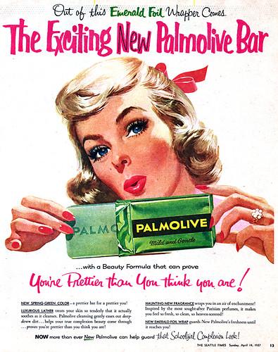 beauty,vintagead,1957,palmolive,seattletimes,soap-45cffee1139375d9e01d271e6bb58e5f_h-1
