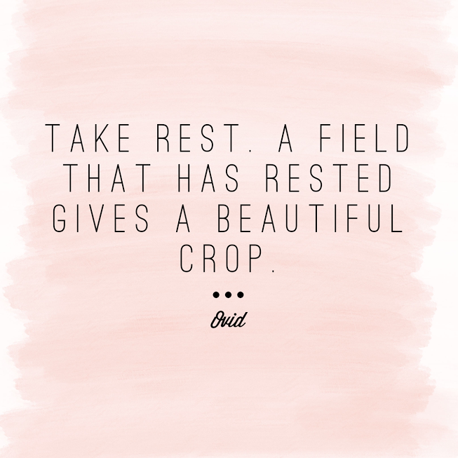 take rest